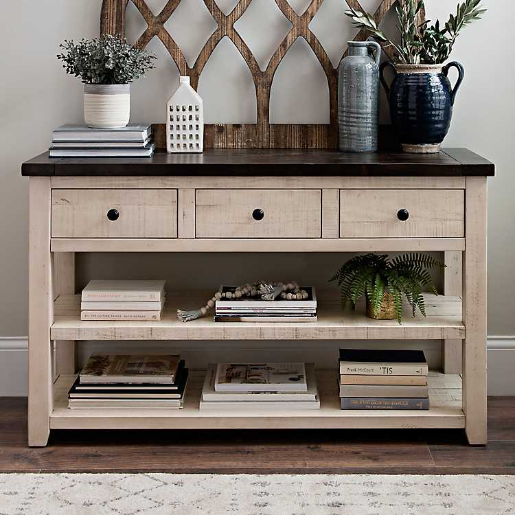 Admirable Franklin 3 Drawer 2 Shelf Console Table Alphanode Cool Chair Designs And Ideas Alphanodeonline