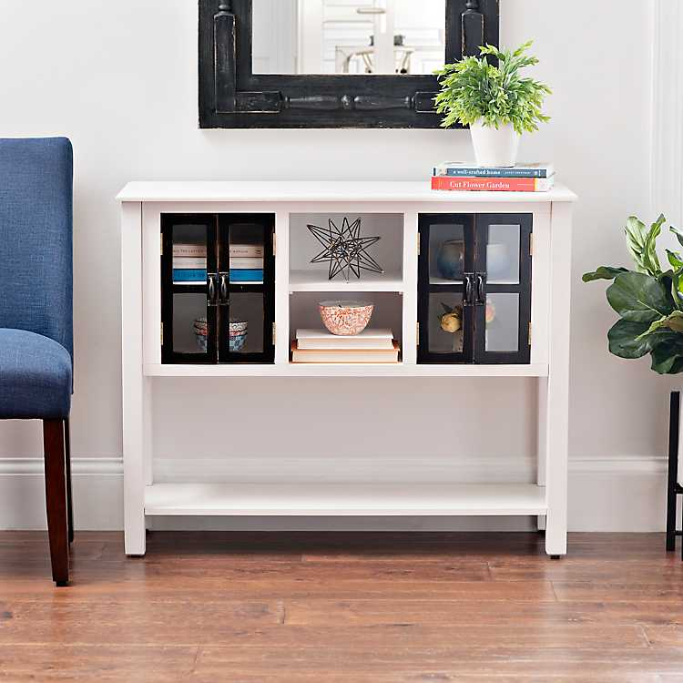 Emma Black And White Wood Console Table