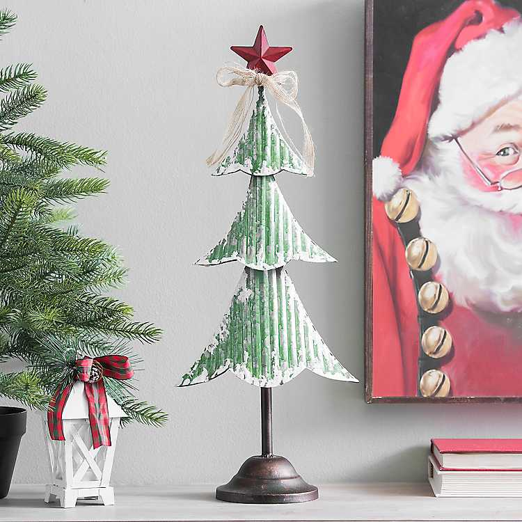 Green Metal Christmas Tree Statue, 22.5 in. | Kirklands