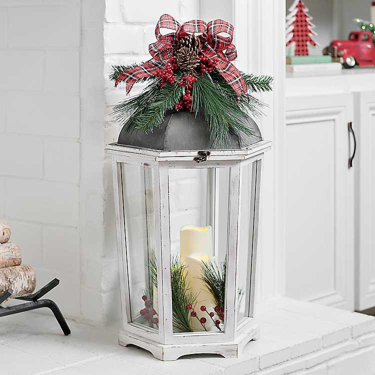 Product Details White 3 Pillar Led Christmas Lantern