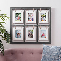White And Dark Gray Hanging Collage Frame