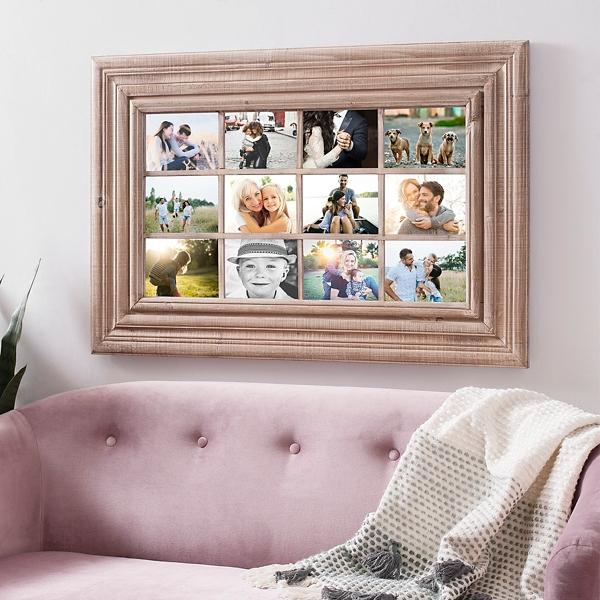 Natural Wood Windowpane Collage Frame