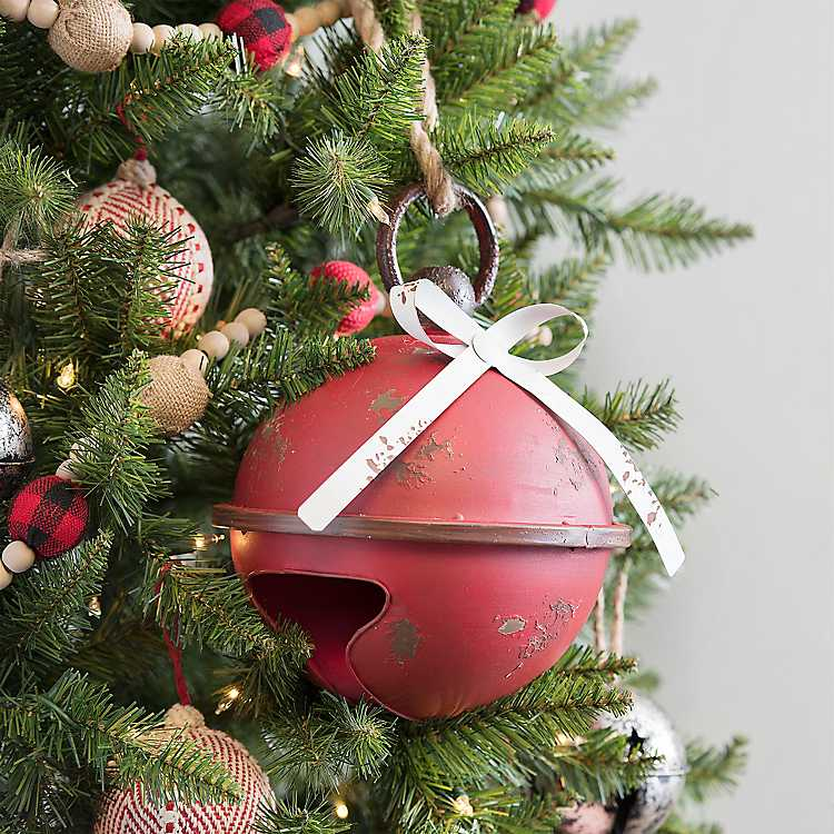Red Distressed Christmas Bell, 9 in. | Kirklands