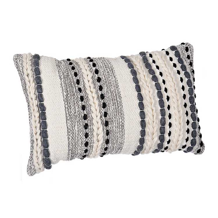Knots And Braids Wool Accent Pillow