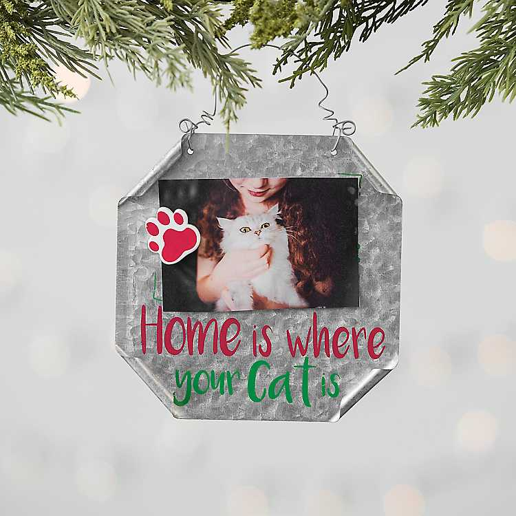 metal cat pet frame ornament