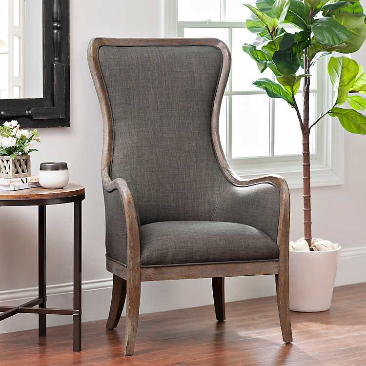 Pleasing Charcoal High Wing Back Accent Chair Ibusinesslaw Wood Chair Design Ideas Ibusinesslaworg