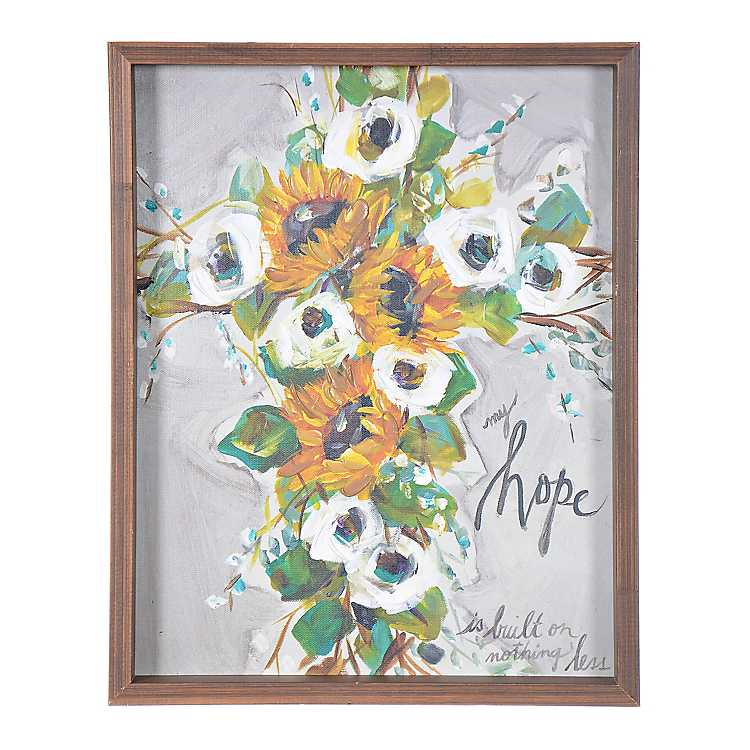 Fall Floral Cross My Hope Framed Art Print Kirklands