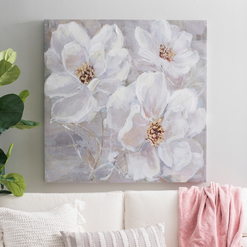 Graceful Floral Canvas Art Print