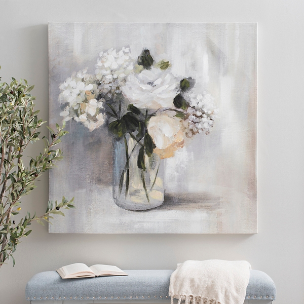 Summer Nuance Floral Canvas Art Print