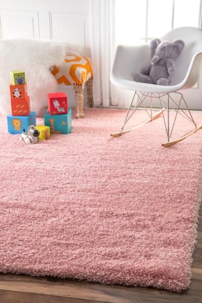Pink Iliza Shag Area Rug