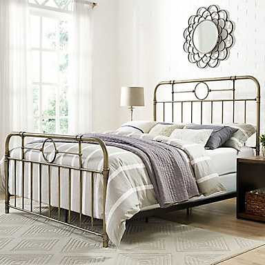 Bronze Metal Pipe Queen Bed