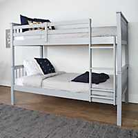 Gray Mission Designed Twin Bunk Bed