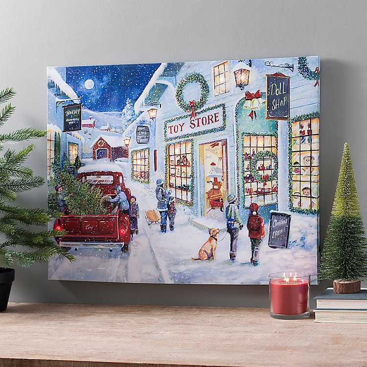 Pre-Lit Toy Store Wonderland Canvas Art Print | Kirklands