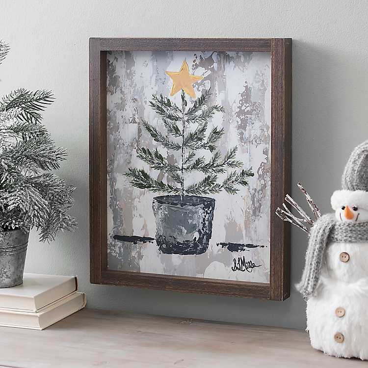 Pine Tree Farm Framed Canvas Art Print