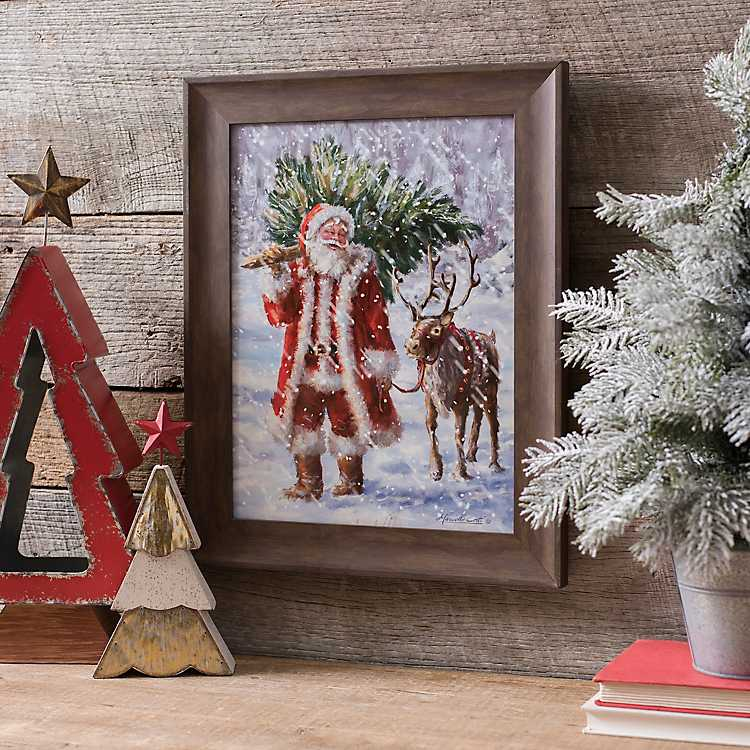 North Pole Tree Farm Framed Art Print | Kirklands