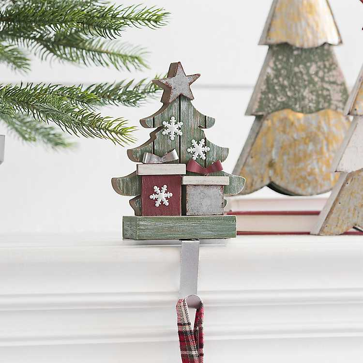 Christmas Tree Mantel Stocking Holder | Kirklands