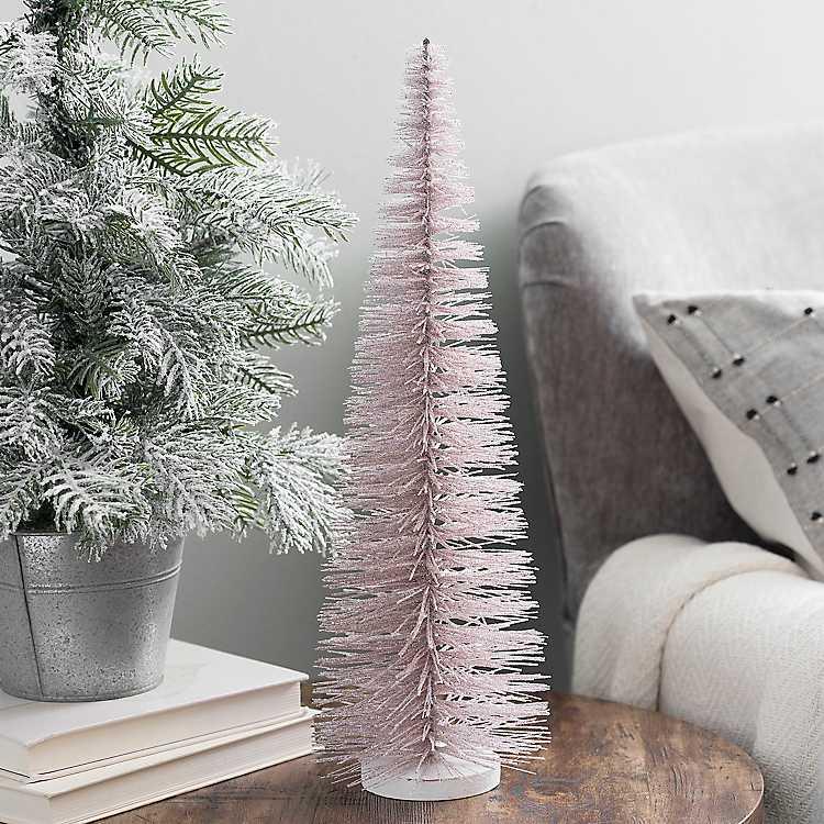 Blush Bottlebrush Christmas Tree, 17 in. | Kirklands