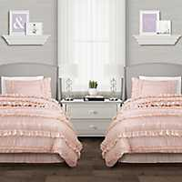 Blush Belle 4-Piece Full/Queen Comforter Set