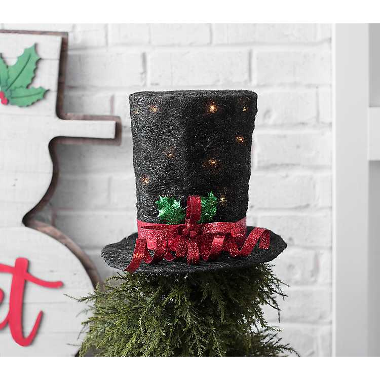 Glittering Top Hat Christmas Tree Topper Christmas Top Hat