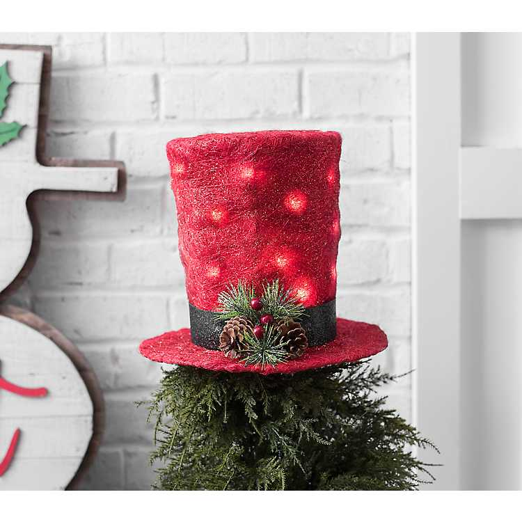 Christmas Pet Hat Wool Felt Top Hat Pet Party Festival Accessory Pet