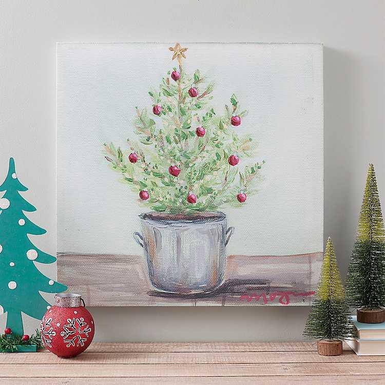 Tiny Christmas Tree Canvas Art Print | Kirklands