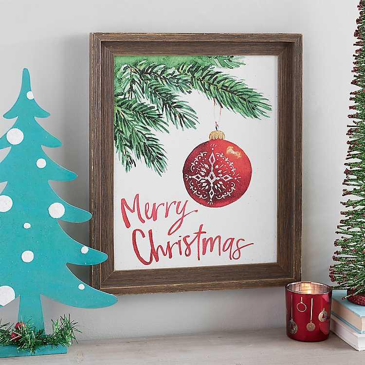 Merry Christmas Ornament Framed Art Print | Kirklands