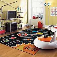 Solar System Nylon Kids Area Rug