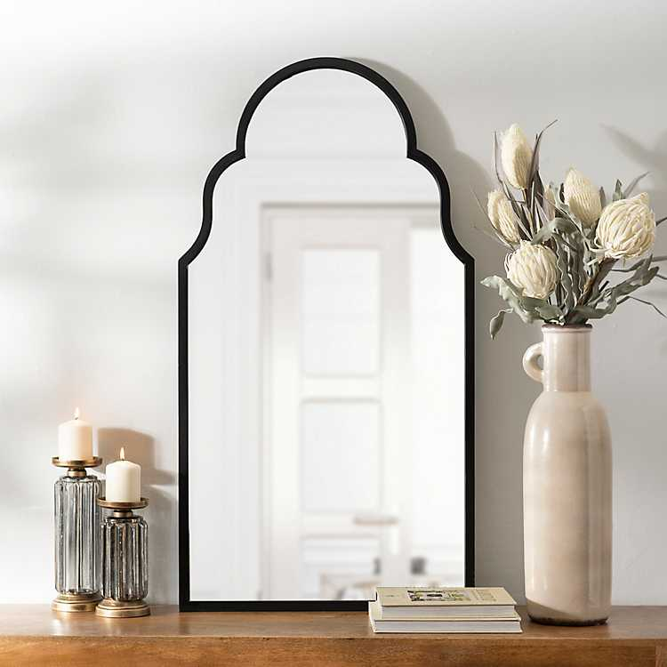 Maria Metal Black Arch Wall Mirror