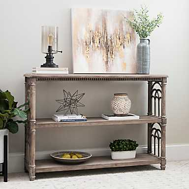 Arch Sides Cathedral Console Table