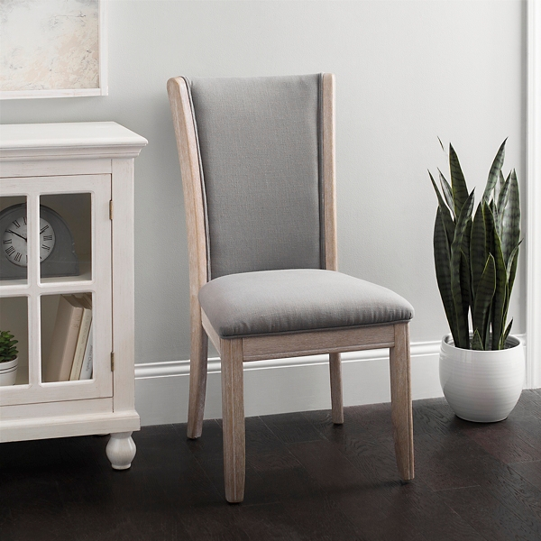 Gray Exposed Wood Dining Chair