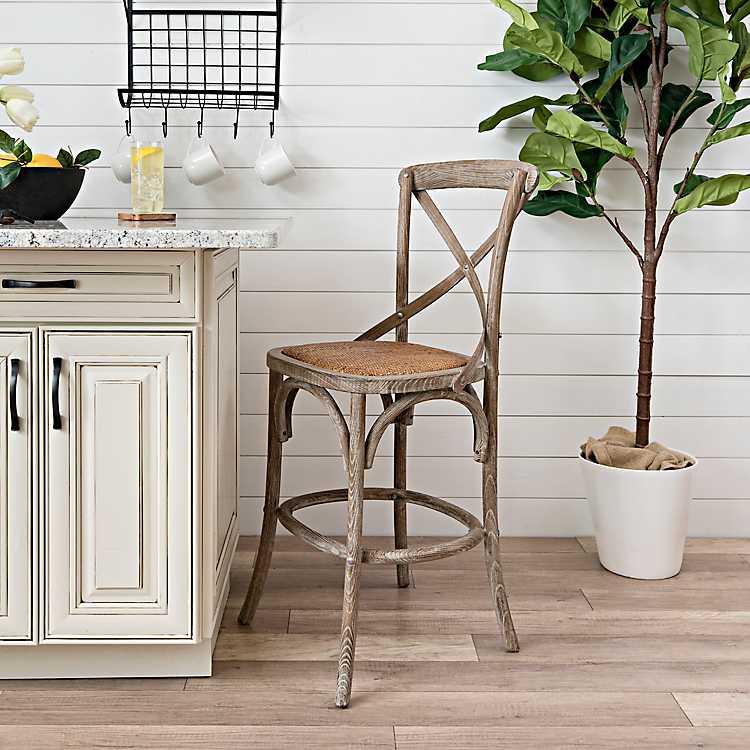 Magnificent Weathered Finish X Back Counter Stool Creativecarmelina Interior Chair Design Creativecarmelinacom