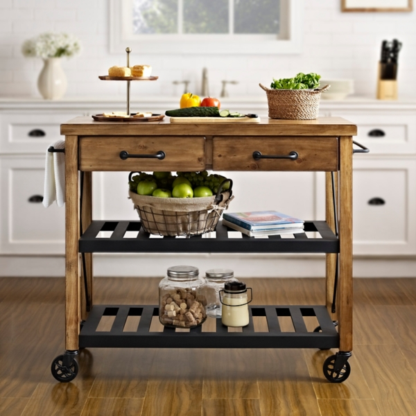 Radner Industrial Kitchen Cart with Casters