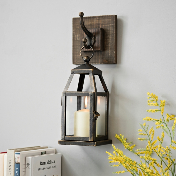 Hanging Lantern Metal Sconce