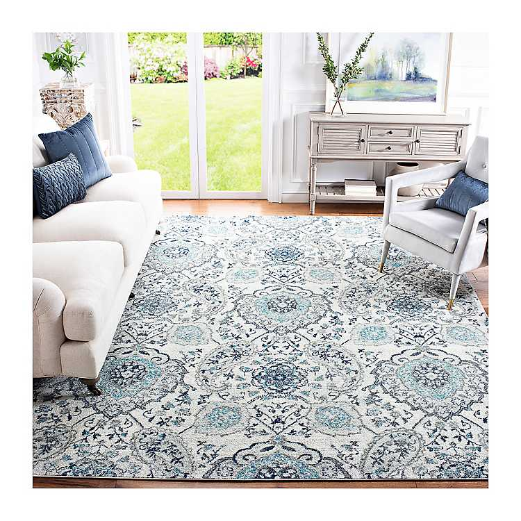 Gray Madison Medallion Area Rug 8x10