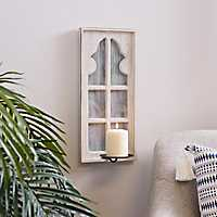 Grace Whitewash Single Sconce