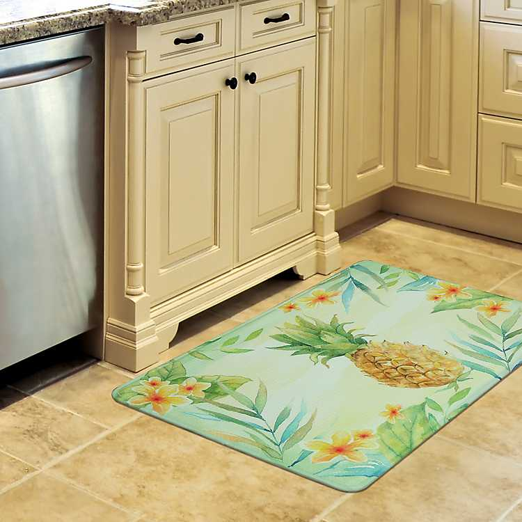 Product Details Tropical Pineapple Memory Foam Kitchen Mat