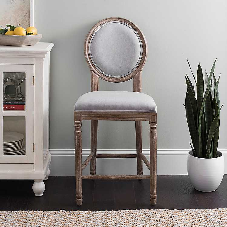 Superb Louis Gray Weathered Counter Stool Ncnpc Chair Design For Home Ncnpcorg