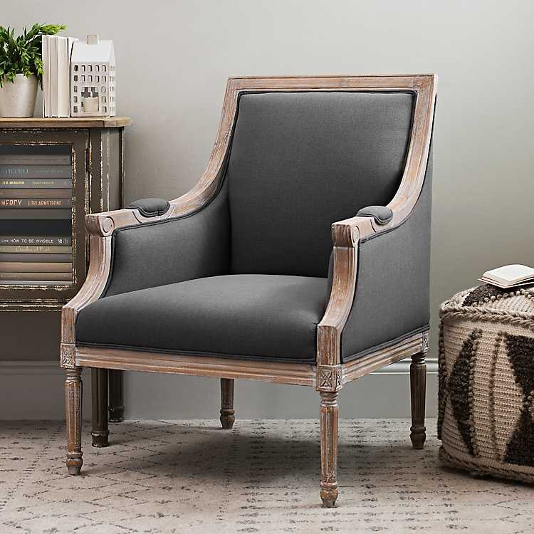 Phenomenal Mckenna Solid Dark Gray Accent Chair Caraccident5 Cool Chair Designs And Ideas Caraccident5Info