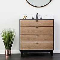 Gray Marble Tabletop Industrial Style Vanity Sink