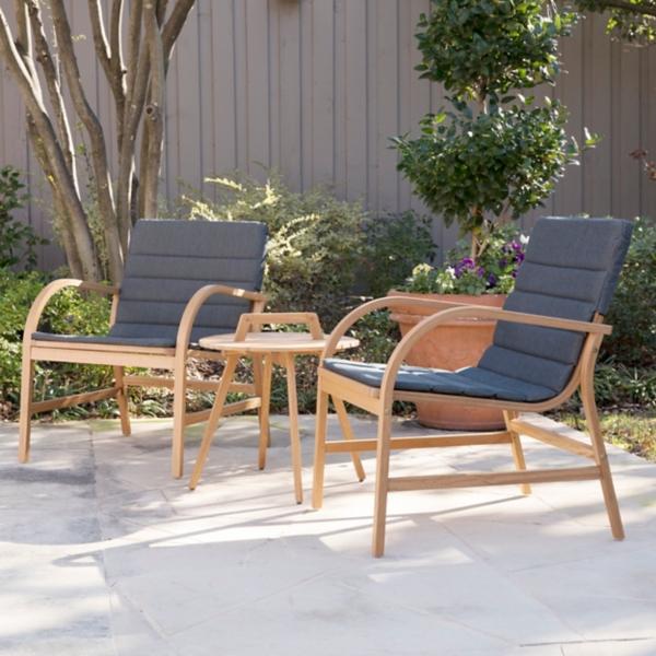 Panama 3-Piece Eucalyptus Outdoor Patio Set