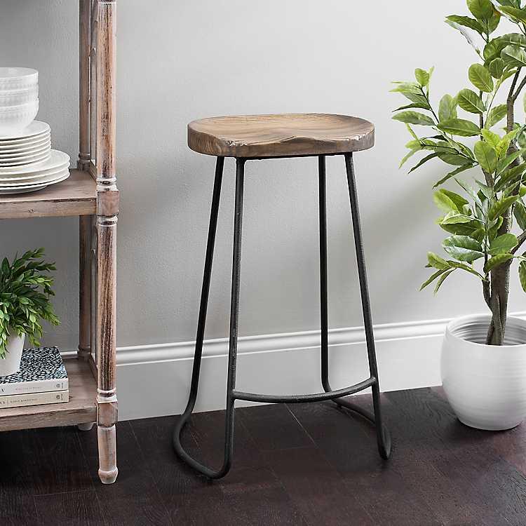 Surprising Backless Molded Wood Seat Bar Stool Machost Co Dining Chair Design Ideas Machostcouk