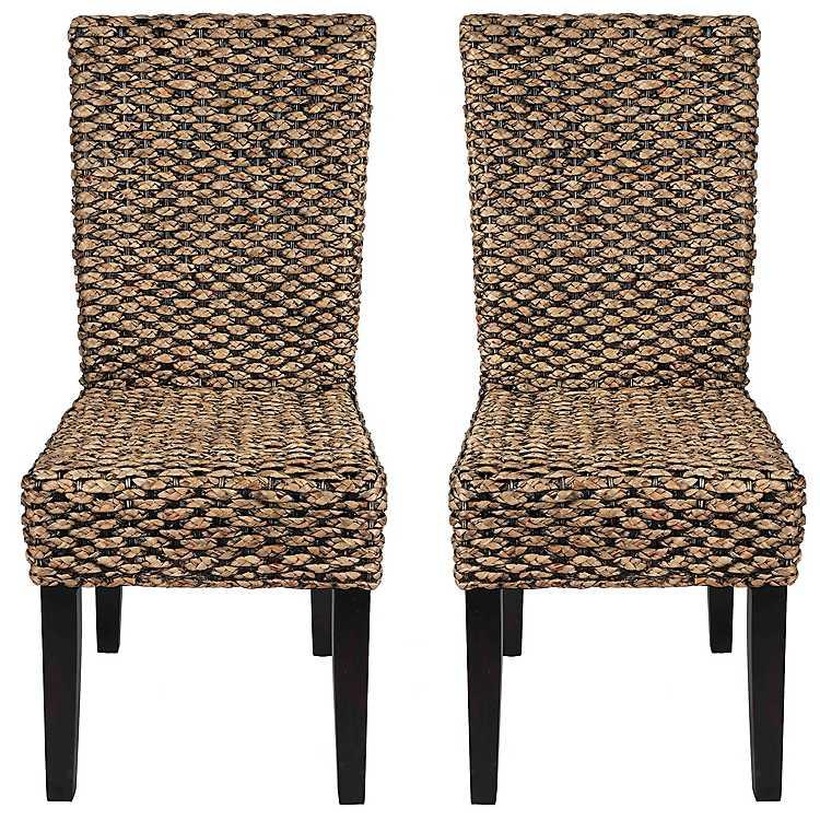 Alana Water Hyacinth Parson Chairs, ...