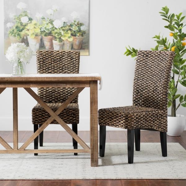 Alana Water Hyacinth Parson Chairs