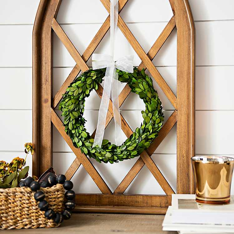 Diamond shaped wreath handled gift basket PATTERN