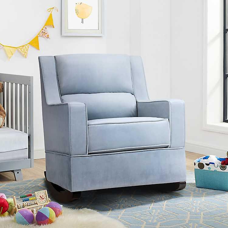 Bailey Light Blue Nursery Rocker Accent Chair ...