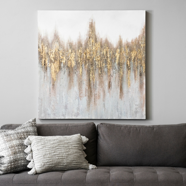 Gold and Bronze Abstract Canvas Art Print
