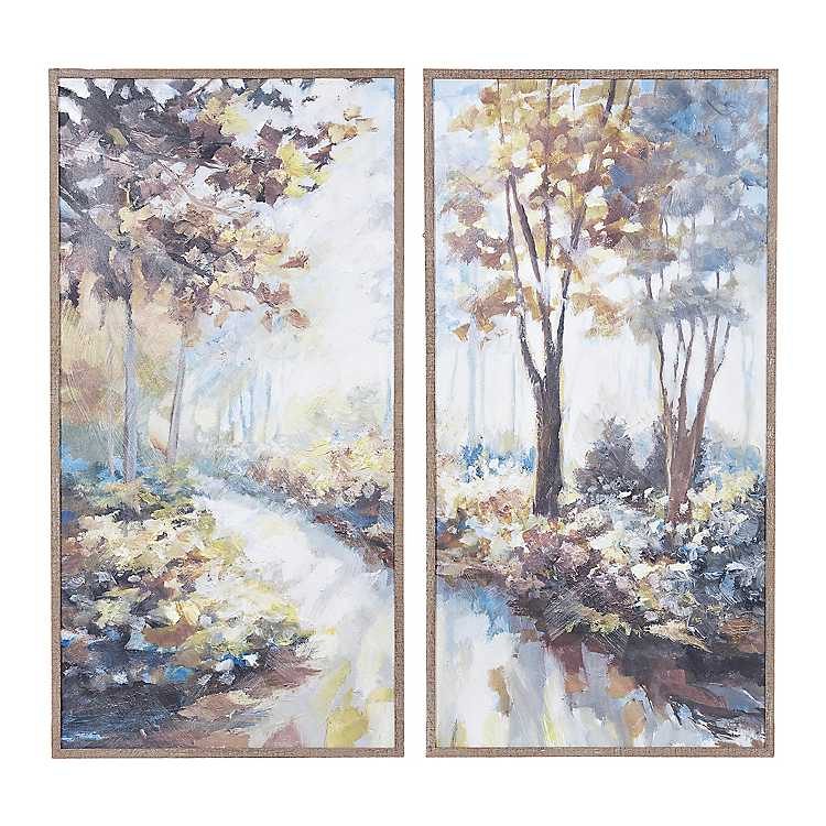 Moonlight Trees Framed Art Prints, Set of 2 | Kirklands