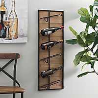 Wood and Metal 6-Bottle Wine Rack