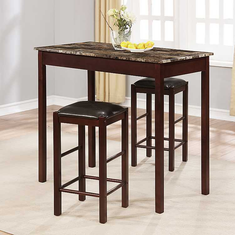 Fabulous Tavern Counter Height Table And Stools 3 Pc Set Theyellowbook Wood Chair Design Ideas Theyellowbookinfo