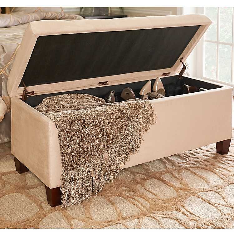 Pleasing Amelia Tufted Beige Shoe Storage Ottoman Bench Andrewgaddart Wooden Chair Designs For Living Room Andrewgaddartcom